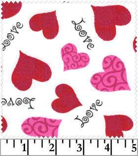 Sweet Valentine Heart hearts cotton fabric~ love