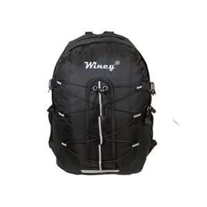 New large black shoulder students backpack for school travel bag high