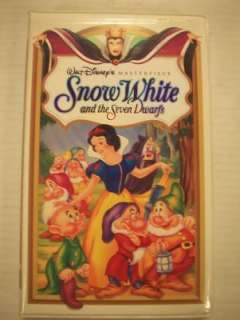 Walt Disney Masterpiece Snow White & the 7 Dwarfs VHS 717951524034