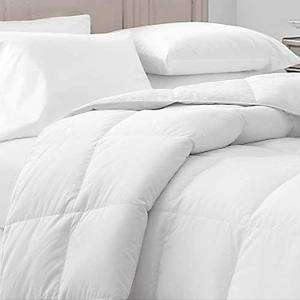 WHITE 65 oz KING SIZE DOWN/FEATHER COMFORTER 300 T/C