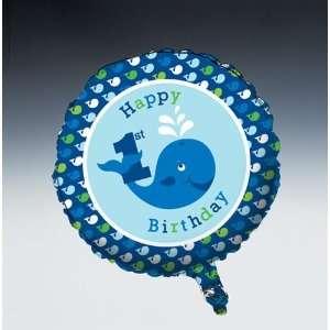 Ocean Preppy Boy Happy Birthday Foil Balloon