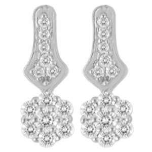 Nakshatra, 18K White Gold, Diamond Fashion Earrings, 1/4