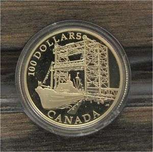 CANADA 100 DOLAR DOLLARS GOLD COIN ST LAWRENCE 2004