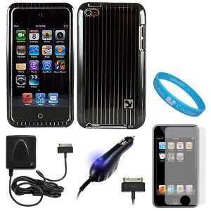 Protective Rubberized Crystal Hard Case Cover for Apple iPod Touch