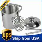 New 1300ml Double Wall Wine Champagne Ice Bucket Cooler With Tongs Lid