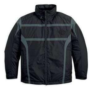 MENS HARLEY DAVIDSON BLACK STC WATERPROOF JACKET SIZE XLARGE