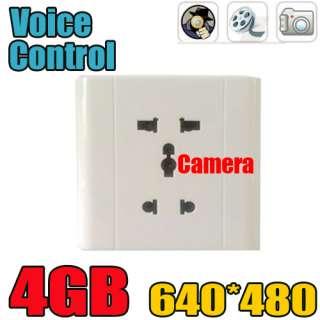 Spy Voice Activated Wall Socket Hidden CAM Camera Recorder 30FPS DV DV