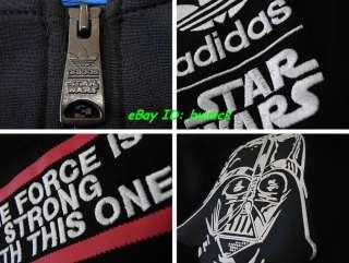 ADIDAS STAR WARS TRACK TOP JACKET Black Darth Vader M