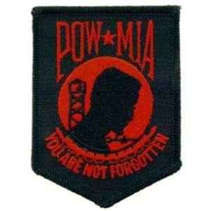 POW MIA Patch Black & Red 3 1/2 Patio, Lawn & Garden
