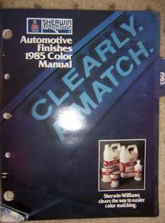 1985 Sherwin William Auto Paint Color Manual Truck W