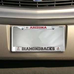 MLB Arizona Diamondbacks Chrome Car License Plate Frame
