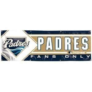 MLB San Diego Padres Banner   2x6 Vinyl