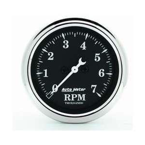 Auto Meter 1797 Old Tyme Black 2 1/16 7000 RPM In Dash