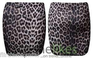 Womens Animal Leopard Print Stretch Bodycon Skirt Ladies Mini Sexy