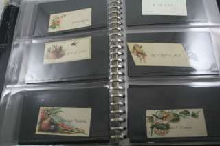 VICTORIAN CALLING CARD ALBUM SCRAPBOOK 120PC COLLECTION
