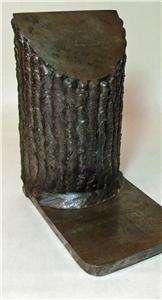 antique folk art DOOR STOP iron tree bark Sculpture hand made old