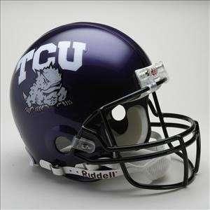 TCU HORNED FROGS Riddell VSR 4 Football Helmet  Sports