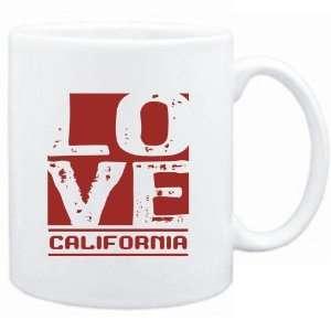 Mug White  LOVE California  Usa States  Sports