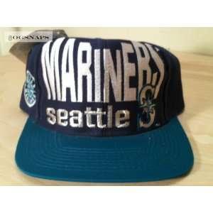 Seattle Mariners Vintage Big Print Snapback Hat
