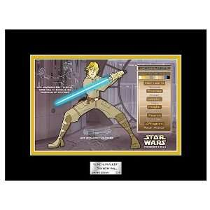 Star Wars Animated Luke Skywalker Character Key: Home