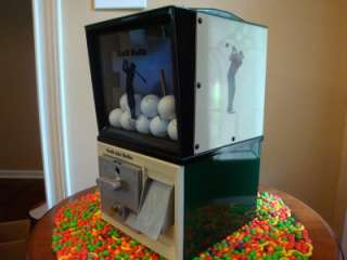Vintage 1950s Victor *GOLF BALL* Vending Machine Coin Op Clubs