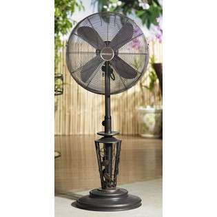 Vines Metal Deco Adjustable Outdoor Standing Floor Fan