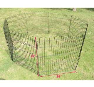 Heavy Duty 8 panel Pet Dog Cat Exercise Pen Playpen Fence Yard Kennel