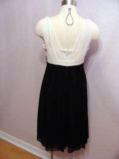 BLACK BEADED WAIST DRAPE FRONT PARTY COCKTAIL DRESS Sz 10P NWT