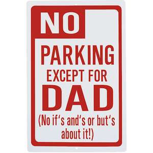 Personalized No Parking Except For Dad Sign Personalized Gifts