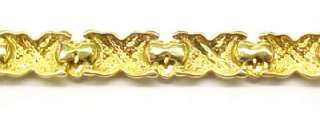 Gold Plated Sterling Silver Heart Link Bracelet ~ 7
