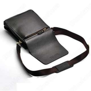Large High Quality Mens Genuine Leather Shoulder Briefcase Messenger