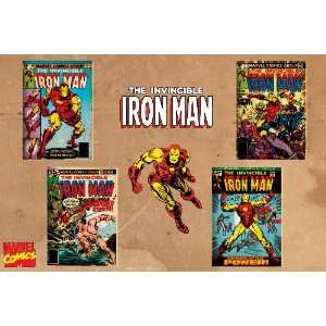 Marvel Comics Retro Invincible Iron Man Comic Book Covers