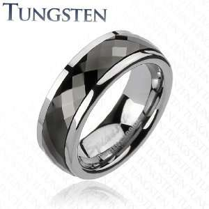 IP Multi Faceted Prism Cut Spinner Ring   Width 8mm   Sizes: 9 13, 10