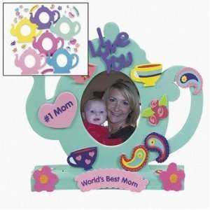 Tea Pot Stand Up Foam Frame Craft Kit (1 dz) Toys & Games