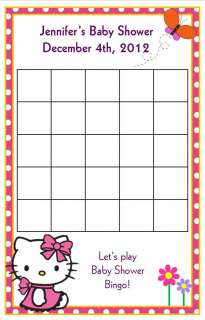 24 Hello Kitty Baby Shower Bingo Cards