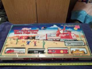 KELLOGGS TONY TRADING CO. WESTERN HO SCALE TRAIN SET IN ORIGINAL BOX