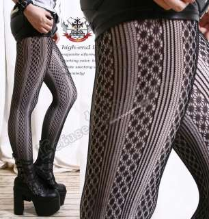 Lace Pattern Tights/Pantyhose/Hosiery MOSAIC+PINSTRIPE