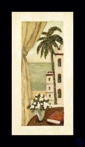 VERANDA I palm tree art FRAMED PRINT   Charlene Olson