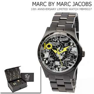 New Marc By Marc Jacobs 10th Anniversary Men Watch Set Black MBM9027