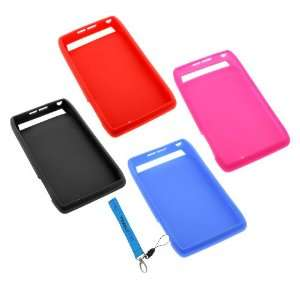 GTMax 4 x Silicone Soft Skin Cases (Black / Blue / Red / Hot