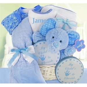 Minky Dots Baby Boy Gift Basket Toys & Games