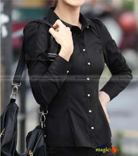 Women Fashion Sweet Formal OL Slim Long Sleeve Shirt Top Blouse 4
