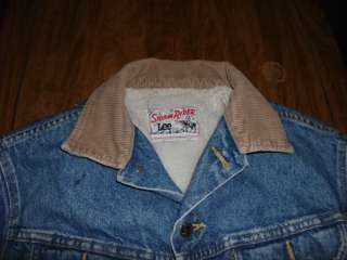 Lee Vintage Sherpa Lined Storm Rider Jacket Size Small