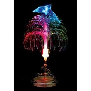 LED Fiber Optic Table Lamp/Night Light   Dolphin