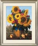 Sunflowers over Castle Ruin Prints by Joe Anna Arnett