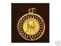 Virgin Mary Gold Plated Pendant Charm Pray Jewelry