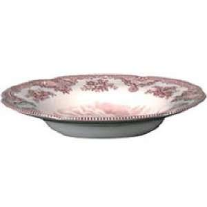 Johnson Brothers China Old Britain Castles Pink Rim Soup or Pasta Bowl