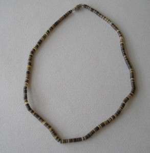 Vintage hand rolled heishi bead necklace