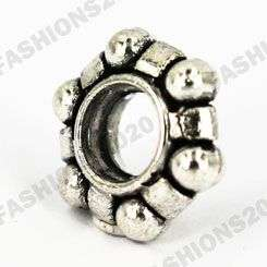 60 pieces Silver plated spacer beads that fit Pandora Charm/Bracelet