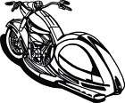 BIKE #5 DECAL GRAPHIC MOTORCYCLE TRAILER WALL TRUCK VAN